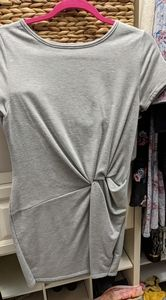 Rolla Coster gray knot short sleeve dress